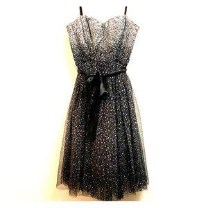 BCBG Tulle Strapless Dress